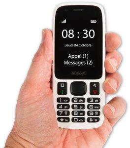 Téléphone gros carcatères et vocal, MiniVision
