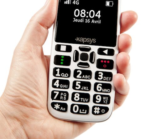 Téléphone adaptés pour séniors et malvoyant, le MiniVIsion 2